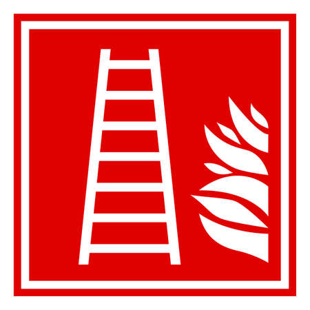 Fire ladder sign Vector