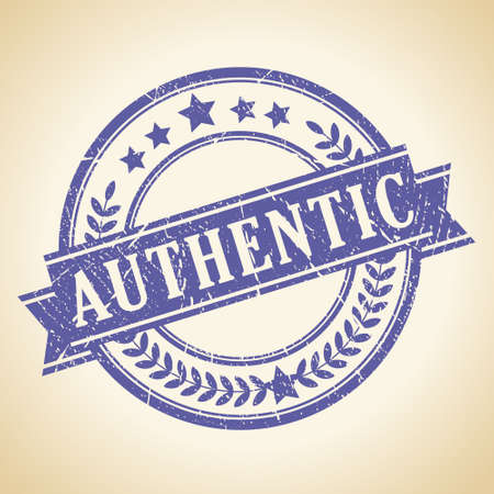 Authentic vintage stamp Vector