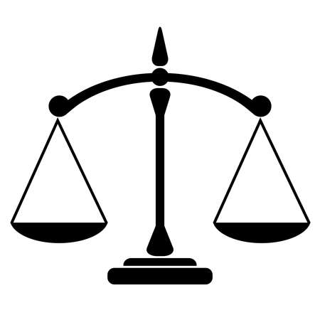 signos de pesos: Icono del balance de