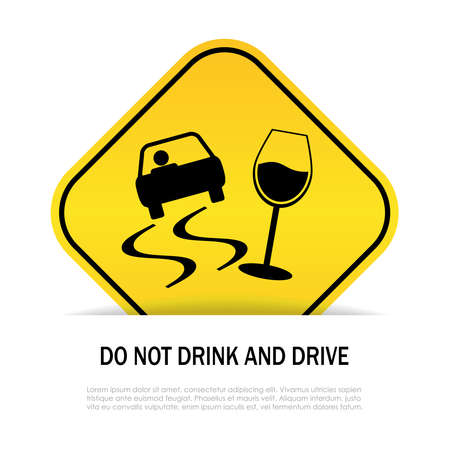 Boire ou conduire, il faut choisir Banque d'images - 25996178