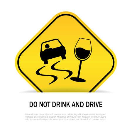 Trinken Sie nicht und fahren nicht Illustration