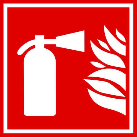 conflagration: Fire extinguisher sign