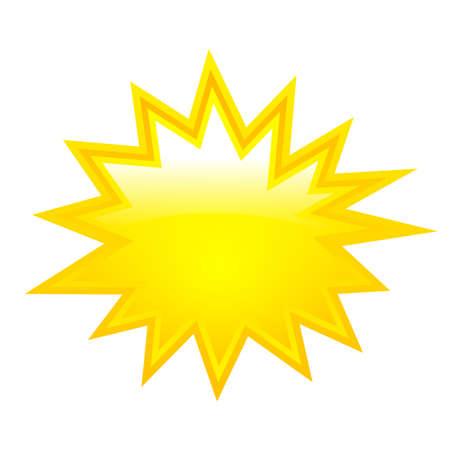 노란색 붐 스타 일러스트