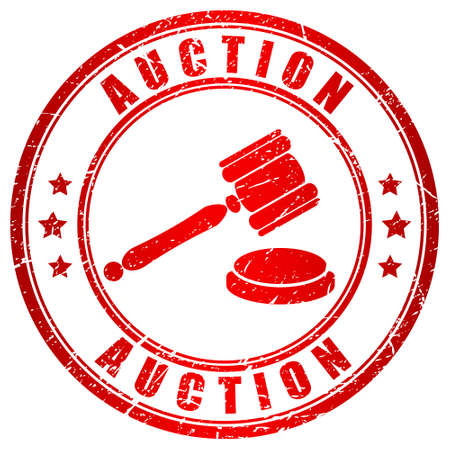 auctioneer: Auction red stamp
