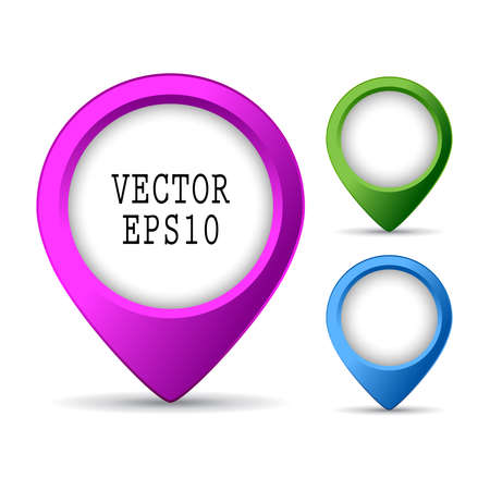 Location pin button Stock Vector - 26057105