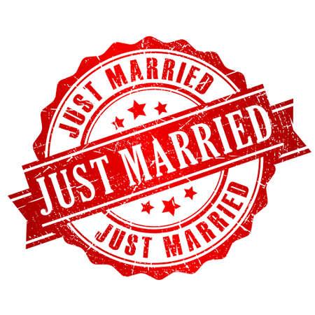 Timbre juste marié Banque d'images - 26057108