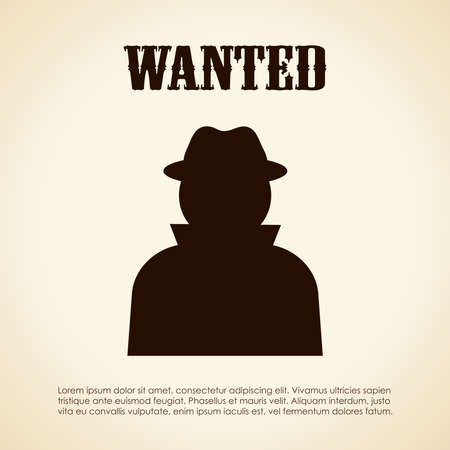 Wanted person Vector