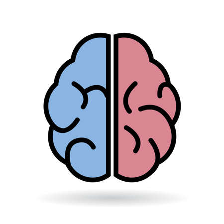Brain icon Illustration
