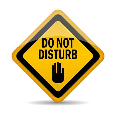 verst�ren: Bitte nicht st�ren Schild Illustration