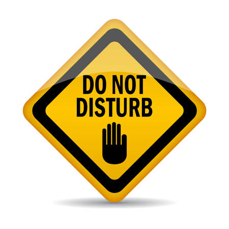disturbing: Do not disturb sign