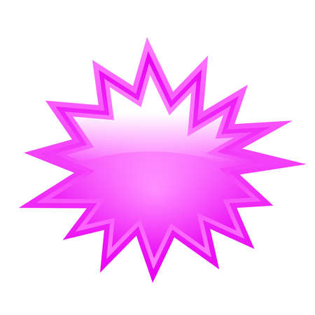Blank bursting star Vector