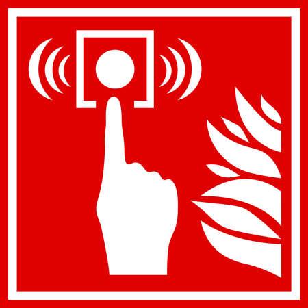 火災警報器サイン  イラスト・ベクター素材