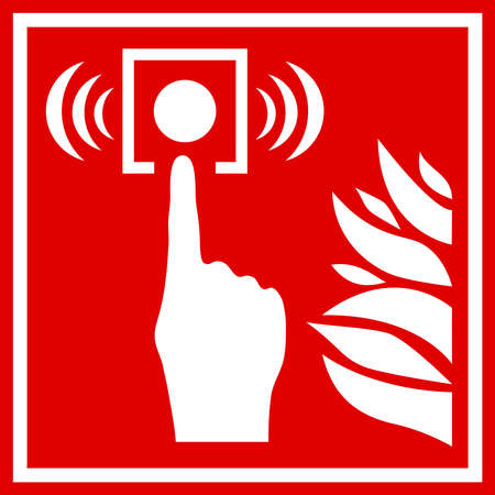 firealarm: Fire alarm sign Illustration