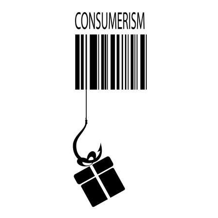 behavior: Consumerism concept Illustration