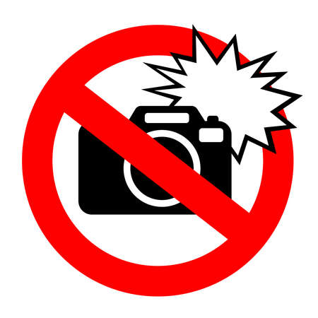 No flash photography sign Vector