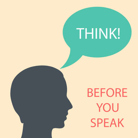 Think before you speak Stock Vector - 26363643