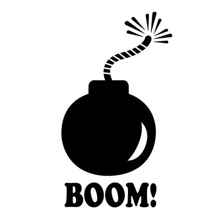 a cannon: Bomb icon Illustration