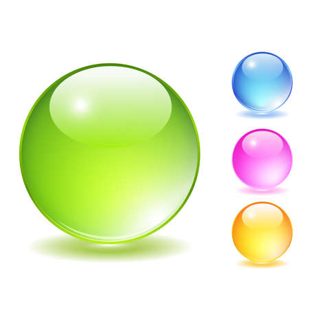 Glass balls set Vector