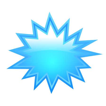 Bursting star shape 向量圖像