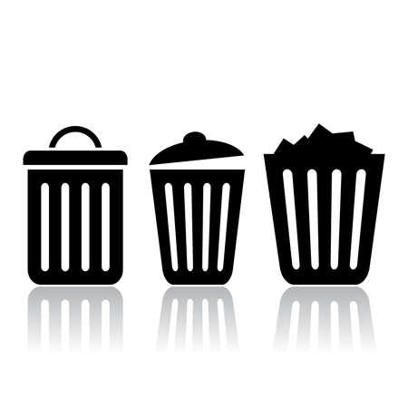 littering: Trash bin icon