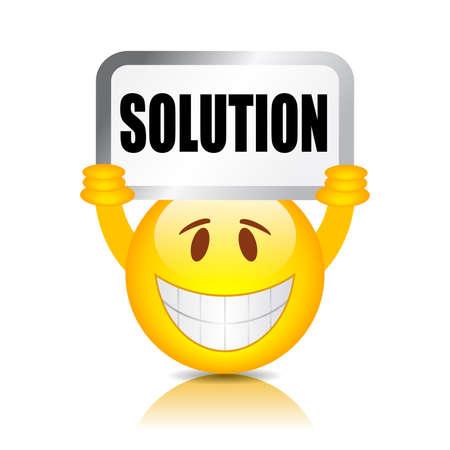 solve a problem: Solution sign Illustration