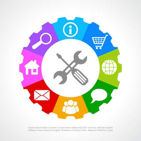 Kunden, unterstützt Symbol Standard-Bild - 27239320