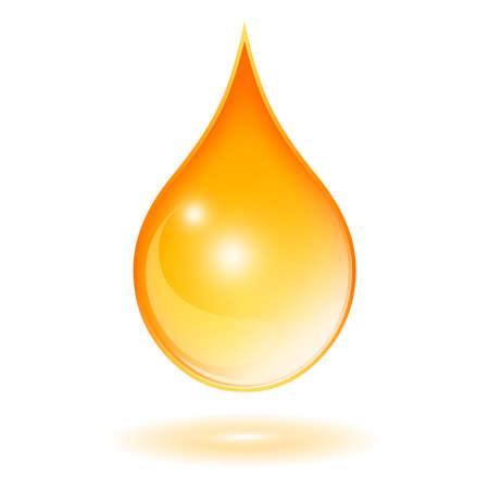gota agua: Gota de aceite