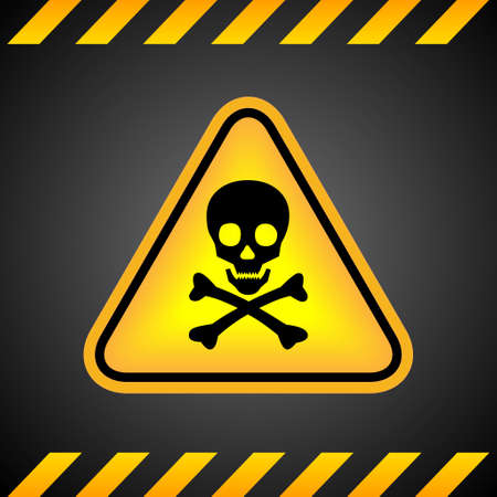 Danger skull sign Vector