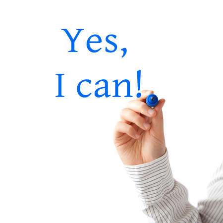 overcome a challenge: Yes i can