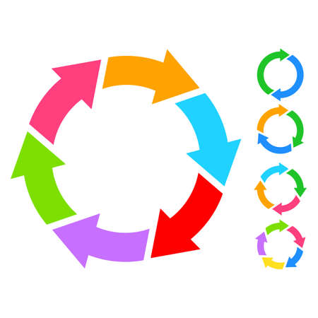 diagrama de procesos: Círculo Ciclo icono Vectores