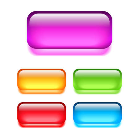 Glass web buttons Vector