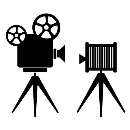 cinematografico: Iconos retro Photo Vectores
