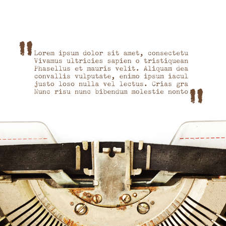 Typewriter card with copyspace photo