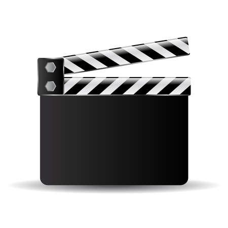 cinematografico: Clapper ilustraci�n de la placa Vectores