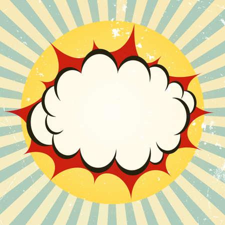 Explosive boom icon Vector