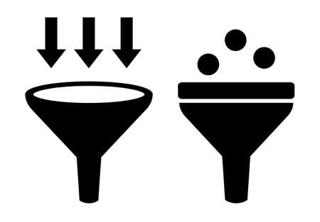 funnel: Filter icon Illustration