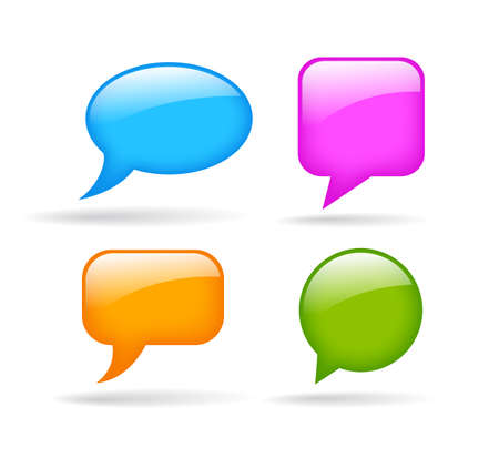 Glossy speech bubble Vector