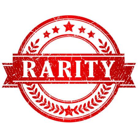 rarity: Rarity stamp Illustration