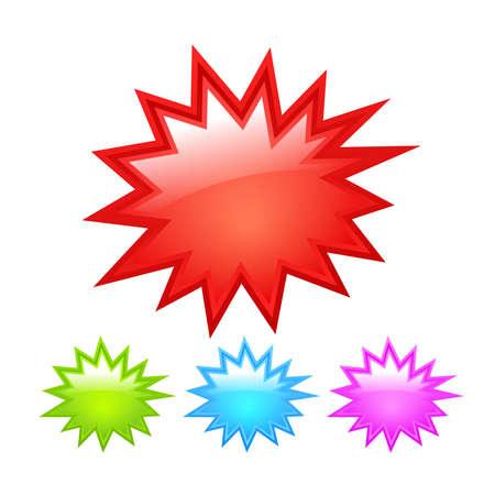 estrella caricatura: Icono Starburst