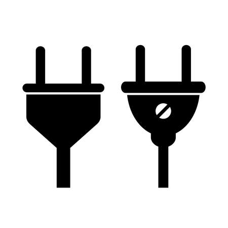 electrical outlet: Socket plug icon Illustration