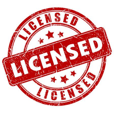Sello con Licencia Ilustración de vector