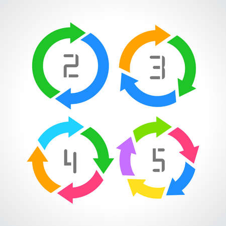circular arrows: Cycle diagram Illustration