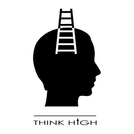 Think high symbol Stock Vector - 27448898
