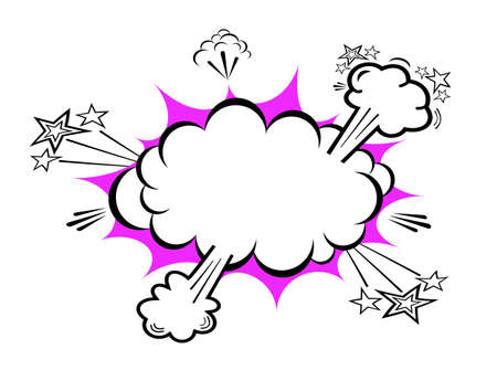 blank bomb: Comic boom explosion