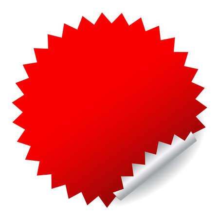 sticker vector: Red vector sticker