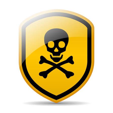 electroshock: Danger skull sign