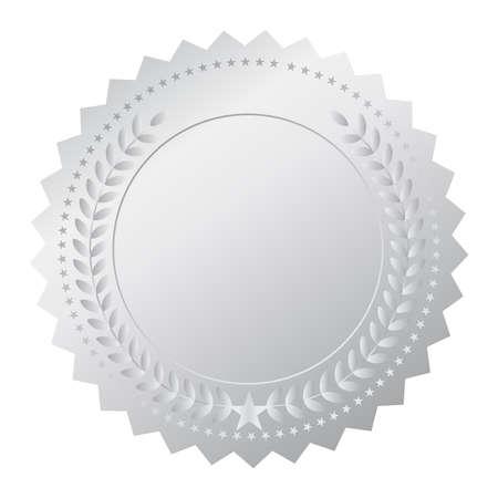 token: Silver medal Illustration