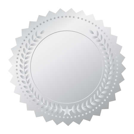 Silver medal Illustration