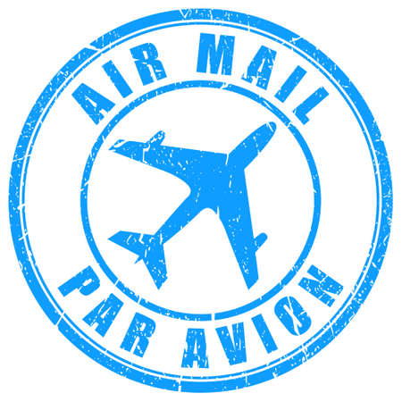 Air mail stamp Illustration
