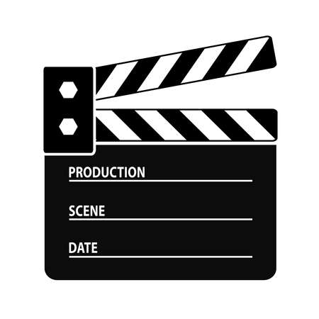 cinematograph: Clapper board icon Illustration